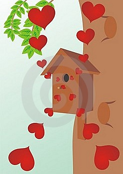 Starling House On A Tree Royalty Free Stock Images - Image: 19047629