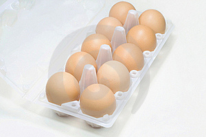 Eggs In Tray Top View. Stock Photo - Image: 19047750