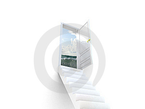 Stairway To The Ocean. Stock Photo - Image: 19048700