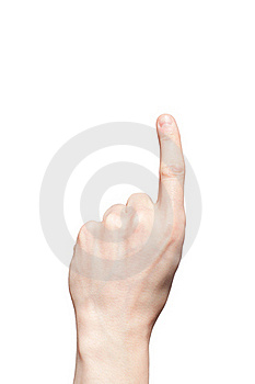Hand With One Counting Fingers Stock Image - Image: 19049811