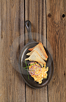 Scrambled Eggs And Toast Royalty Free Stock Photo - Image: 19049825
