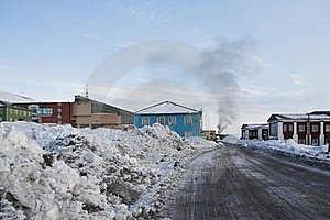 Barentsburg - Russian City In The Arctic Royalty Free Stock Image - Image: 19050186