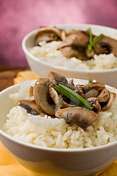 Risotto With Mushrooms Royalty Free Stock Photography - Image: 19051307