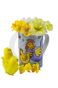 Easter Chickens Stock Images - Image: 19052484