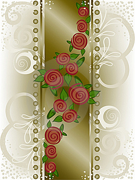 Rose On A Broad Vertical Strip Royalty Free Stock Photo - Image: 19053125
