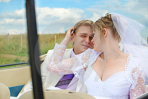Bride And Groom Hugging Royalty Free Stock Image - Image: 19053696
