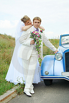 Bride And Groom Hugging Royalty Free Stock Photography - Image: 19054097