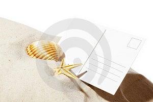 Beach Concept With Postcard Stock Photos - Image: 19054533