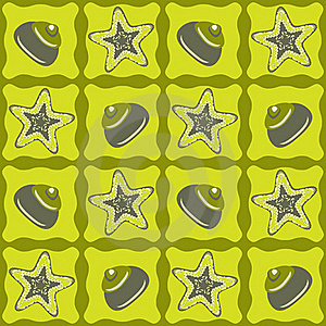 Star-fishes Seamless Pattern Royalty Free Stock Photography - Image: 19054817