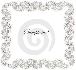 Beautiful Decorative Framework With Flowers. Royalty Free Stock Photography - Image: 19058397