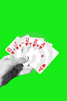 Poker Royal Flush With Clipping Path Stock Photo - Image: 19060070