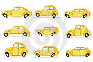 Car In Different Shape Stock Photos - Image: 19061533