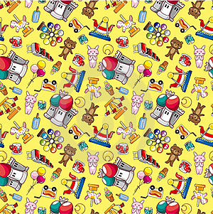 Seamless Playground Pattern Royalty Free Stock Image - Image: 19067076
