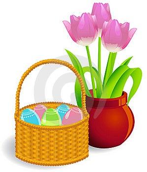 Easter Basket Royalty Free Stock Photos - Image: 19067538