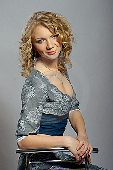 Beautiful Curly Blonde Girl Royalty Free Stock Photography - Image: 19068057