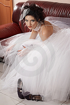 Glamour Model On Sofa Stock Photography - Image: 19068102