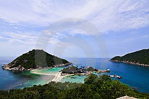 Viewpoint Of Koh Nangyuan Royalty Free Stock Photos - Image: 19069048