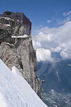 Approaching The Aiguille Du Midi Stock Images - Image: 19071304