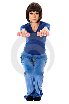 Exercises Using Dumbbells Stock Photos - Image: 19075293