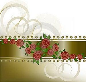 Roses On The Horizontal Strip Stock Image - Image: 19077311