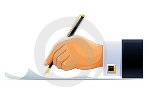 Writening Hand With Pen Stock Photography - Image: 19077362