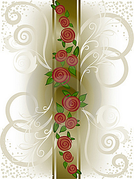 Vertical Band With Roses Stock Photography - Image: 19077372