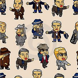 Seamless Mafia Pattern Stock Photography - Image: 19077762