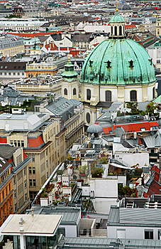 Cityscape Of Vienna With St. Peter's Church Royalty Free Stock Photography - Image: 19078287