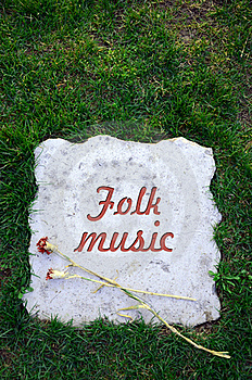 Folk Music Died Royalty Free Stock Images - Image: 19081169