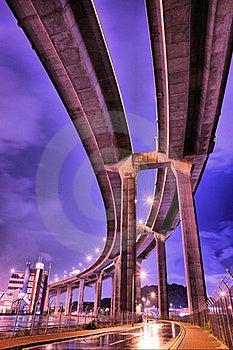 Night Scene Under The Bridge Stock Photography - Image: 19081672