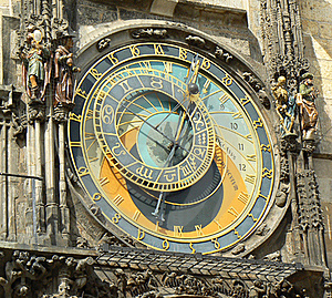 Prague, Ancient Astronomical Clock  Stock Photography - Image: 19083502
