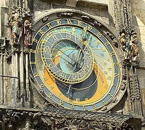 Prague, Ancient Astronomical Clock  Stock Photography - Image: 19083502