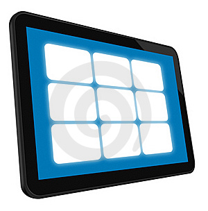 LCD Touch Screen Tablet Royalty Free Stock Photos - Image: 19084698