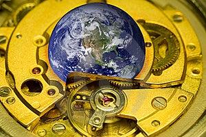 Mecanismo Del Reloj De La Tierra. Imagen de archivo - Imagen: 19087341
