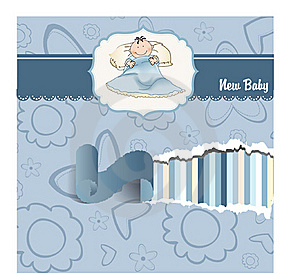 Welcome New Baby Boy Stock Image - Image: 19087771