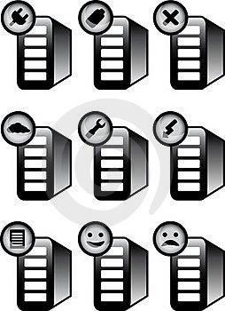 Server Status Icons Stock Image - Image: 19094471