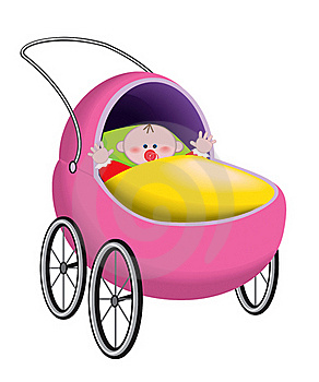 Baby In Baby Carriage Stock Photo - Image: 19096020
