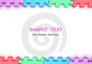 Frame Puzzle On White Background With Copy Space Royalty Free Stock Photos - Image: 19098388