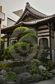 Japanese Temple Stock Image - Image: 19099311