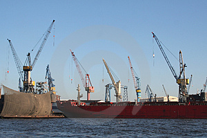 Harbor Industry Cranes Stock Photography - Image: 1911532