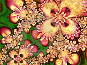 Fractal Flower Petals Collage Stock Images - Image: 1913244