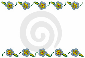 Flower Border Stock Photography - Image: 19103012