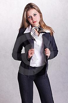Young  Beautiful Businesswoman Royalty Free Stock Image - Image: 19103926