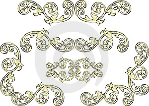 Acanthus Leaf On Border Royalty Free Stock Image - Image: 19106186