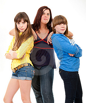 Mother And Her Daughters Portrait Royalty Free Stock Photography - Image: 19108867
