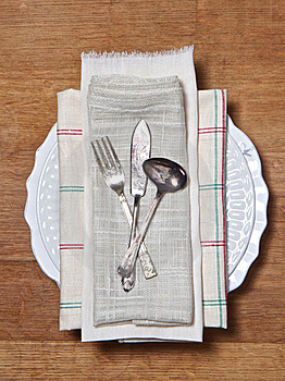 Old Cutlery Setting Royalty Free Stock Photography - Image: 19109527