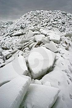 Ice At The Sea Coast Stock Photo - Image: 19113730