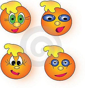 Orange Smileys Royalty Free Stock Photography - Image: 19115927