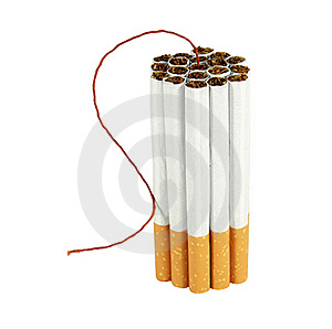 Cigarette Bomb Royalty Free Stock Images - Image: 19119529