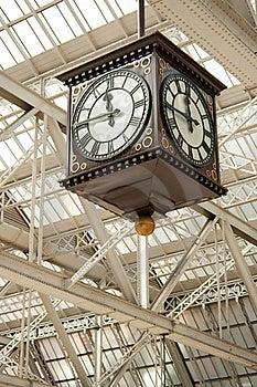 Two Faces Of An Antique Clock Stock Photos - Image: 19119863